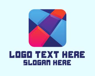 Squares - Puzzle Game App logo design