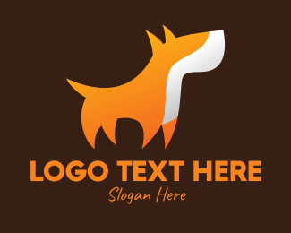 Doggy - Orange Guard Dog logo design