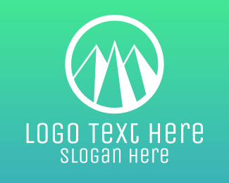 Hiking - Mountain Circle logo design