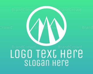 """Mountain Circle"" by LogoPick"