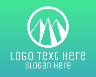 Ski - Mountain Circle logo design