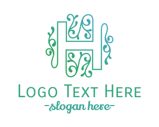Boho - Floral H logo design