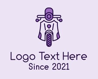 Motorist - Purple Vintage Scooter logo design