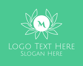 Field - Green Stroke Laurel Lettermark logo design