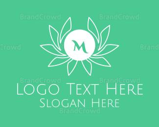 Crops - Green Stroke Laurel Lettermark logo design