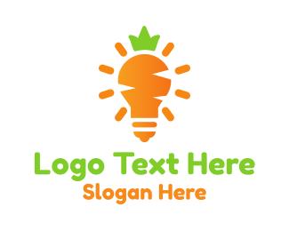 Light Bulb - Carrot Light logo design
