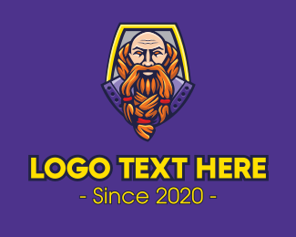 King - Viking Warrior Mascot logo design