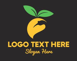 Yellow - Mango Bird logo design
