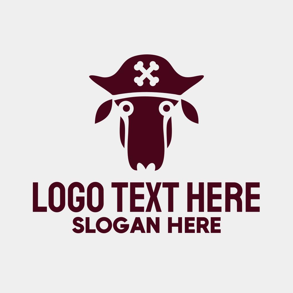 Pirate Captain Sheep Logo