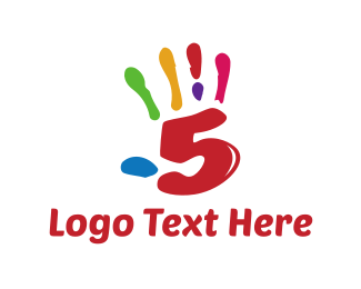 Finger - Colorful High Five logo design