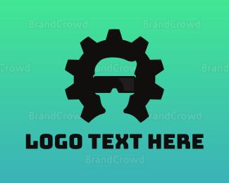 Nerd - Gear VR Gaming logo design