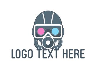 Diver - Dive Mask logo design