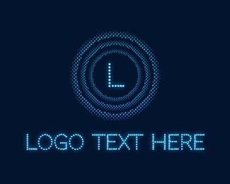 Luminosity - Neon Light Cyberspace Letter logo design