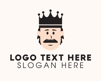 Groom - Old Mustache King logo design