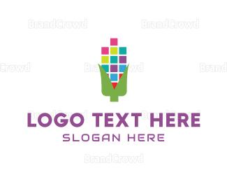 Bitmap - Digital Corn logo design