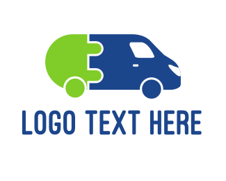 Bus - Electric Car logo design