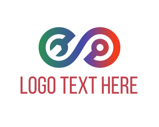 Repair - Repair Tool Loop logo design