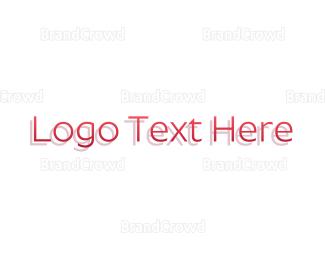 Shadow - Formal Pink Wordmark logo design