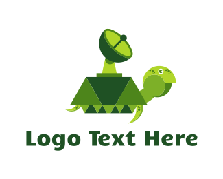 Tortoise - Radar Turtle logo design