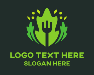 Vegetable - Fork & Salad logo design