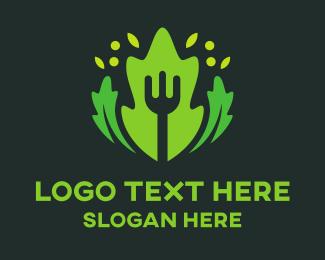 Diet - Fork & Salad logo design