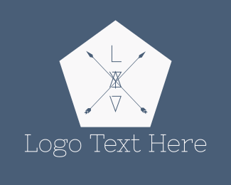 Arrows - Hipster Hexagon Arrows logo design