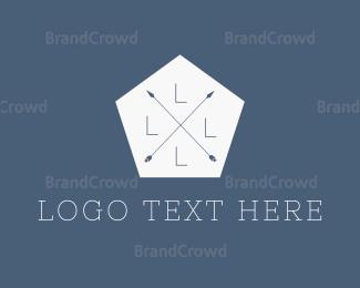 Arrows - Hipster Hexagon Arrows logo design