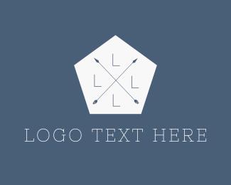 Symbols - Hipster Hexagon Arrows logo design