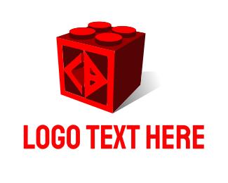 Brick - C & D Cube logo design