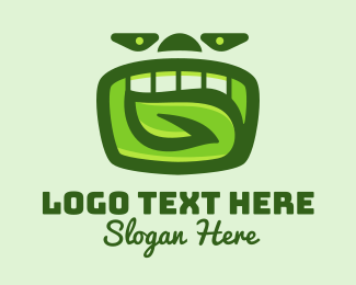 Oral Health - Green Organic Dental  logo design