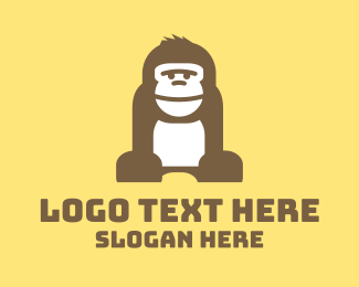Smile - Brown Gorilla logo design