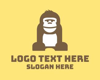 Jungle - Brown Gorilla logo design
