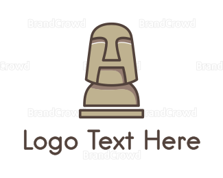 Chile - Stone Human Figure  logo design