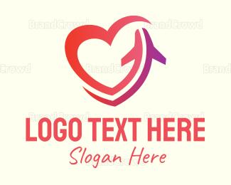 Duty Free - Love Plane logo design