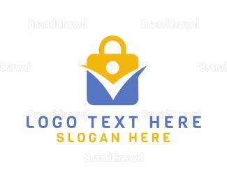Encrypted - Padlock Abstract Wellness logo design