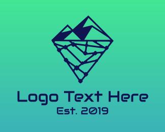 Analytics - Iceberg Technology logo design