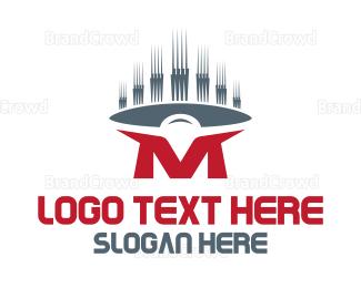 Speaker - Red Letter M logo design