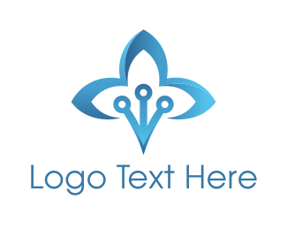 Lotus Flower - Blue Lotus logo design