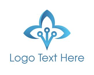 Lotus - Blue Lotus logo design