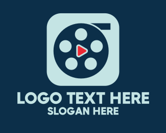Cinema - Video Cinema Reel Play App logo design
