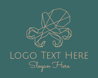 Advertising - Geometric Octopus logo design