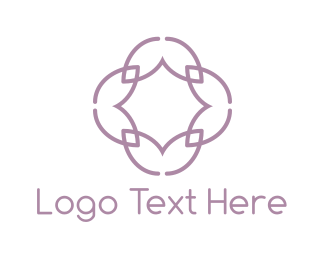 Aged Care - Lilac Flower logo design