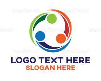 Community - Colorful Community Cycle logo design