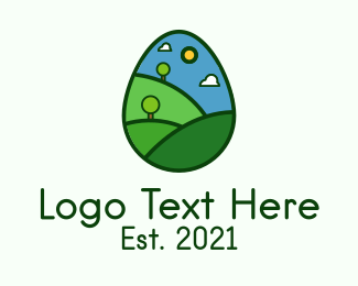Meadow - Nature Park Easter Egg logo design