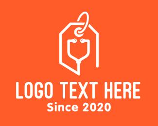 Price - Stethoscope Price Tag logo design