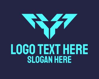 Company - Digital Letter V logo design
