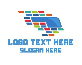 Vr - Colorful VR Tiles logo design