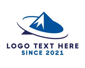 Alps - Blue Mountain Ring logo design