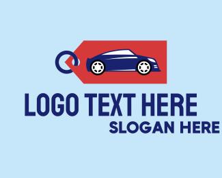Rental - Auto Car Sales Tag logo design