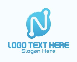 App - Technology Letter N logo design